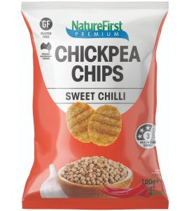 Chickpea Chips with Sweet Chilli